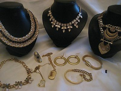 Mixed lot of costume jewellery in gilt tones