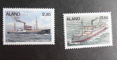 Aland 1997 Steam Freighters SG127/8 boat MNH UM unmounted mint