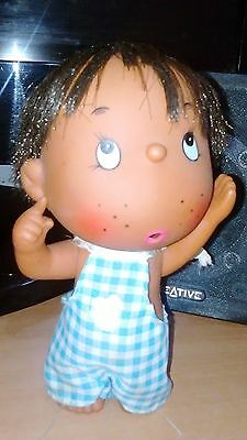 Vintage Rubber Doll,  made in Japan,  Retro 70's Cute
