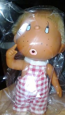 Vintage Rubber Doll,  made in Japan, Retro 70's Cute Blonde