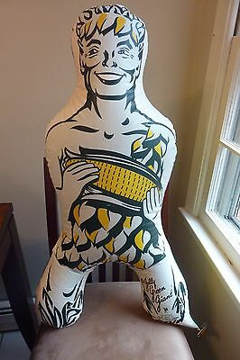 rare vintage jolly green giant advertising inflatable with strong colors  1950's