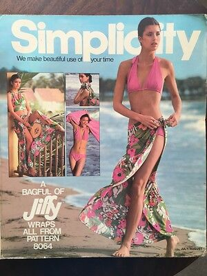 1977 SIMPLICITY Store Counter Pattern Book Fashion Catalog July/August Vintage