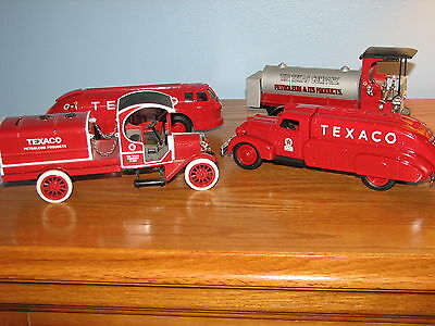 Lot of 4 Die-cast Coin Bank Texaco Model Trucks Ertl Collectibles