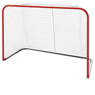 """New 54"""" inch steel foldable hockey net junior red goal jr street pond with mesh"""