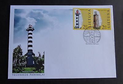Lithuania 2013 SG1102/3 Lighthouses FDC First Day Cover (M)