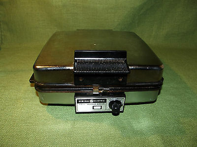 Vtg General Electric Sandwich Grill / Waffle Baker Iron A2G48T 70s GE USA Works!
