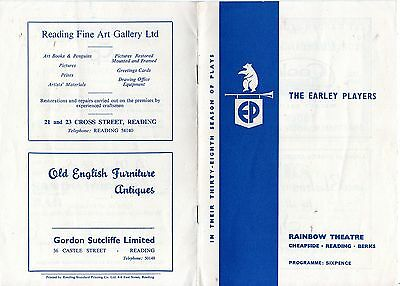 Theatre Programme – Rainbow Theatre Reading The Earley Players (1965)