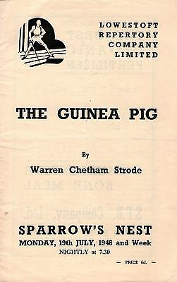 Lowestoft Repertory Company Limited - The Guinea Pig 1948 Programme