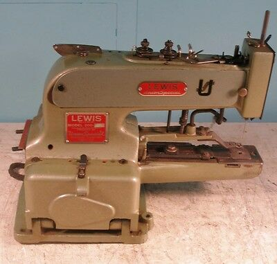 Vintage Lewis 200-2 Union Special Button Industrial Sewing Machine
