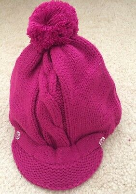 Nwt Gymboree Girls 5 6 7 Pink Winter Sweater Brim Hat MERRY AND BRIGHT