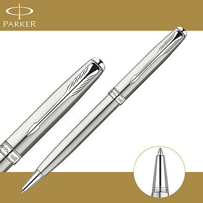 Parker Sonnet Ballpoint Pen Silver Clip Parker Ball point Pen Refill Business H7