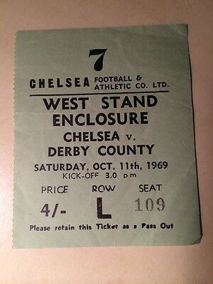TICKET STUB CHELSEA v DERBY COUNTY.. 11/10/1969