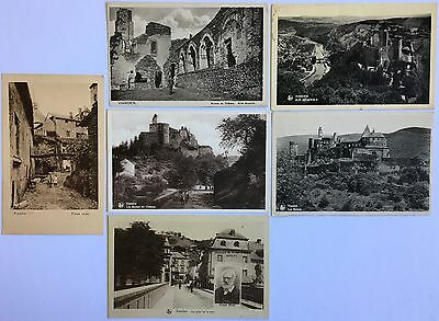 Vianden Luxembourg 6 old postcards 1920-40's, 3 used