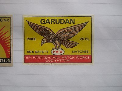 Old Indian Bird Matchbox Label.design 6.