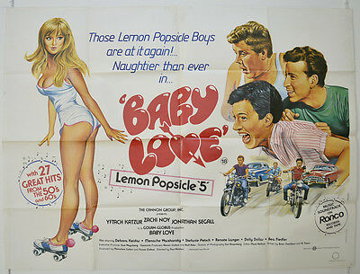 BABY LOVE - LEMON POPSICLE 5 (1986) Original Quad Movie Poster - Yiftach Katzur