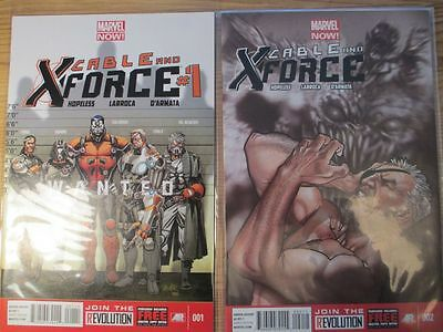 Cable and X-Force #1 and #2 Marvel Now Comics 2013