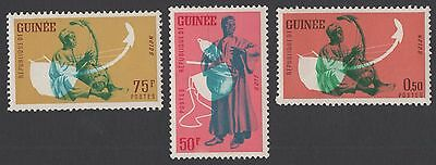 Guinea stamps.  1962 Native Musicians. MNH