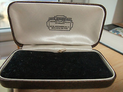 VINTAGE LEATHER JEWELLERY BOX - Silk and Black Velvet lined