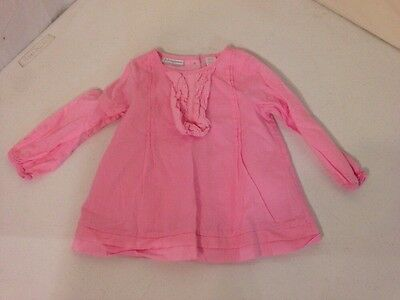 Baby Girl's Pink First Impressions Top-Size 12M