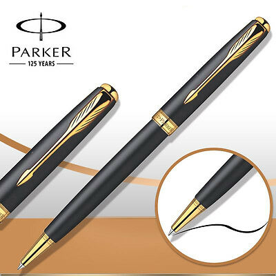 Parker Sonnet Ballpoint Pen Gold Clip Matte Ball point Pen Refill Business H8