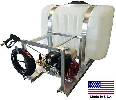 PRESSURE WASHER Commercial - Skid Mounted - 200 Gallon Tank - 4 GPM - 4000 PSI