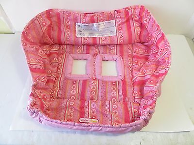 Bright Stars Baby Toddler Pink Girl's Full Grocery Shopping Cart Cover