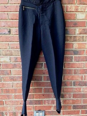 Vintage Bogner Ski Pants With Stirrups Black Flat Front Size 29
