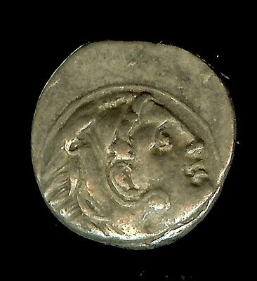 Alexander Iii The Great 336-323 B.c. Silver Drachm -Zeus W/eagle- About Unc