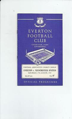 Everton v Manchester United Charity Shield Football Programme 1963