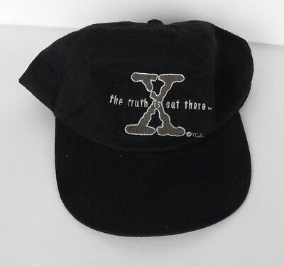 RARE X-FILES Black Cap embroidered  The Truth Adults one size fits all MINT