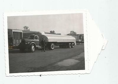 1958 Super!!!! Tanker Tractor Trailer Truck Polaroid Photo Conventional Gas Fuel