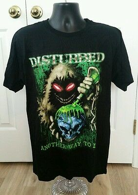Disturbed Another Way To Die 100% Organic Cotton Black T-Shirt Sz: Large  Nwt
