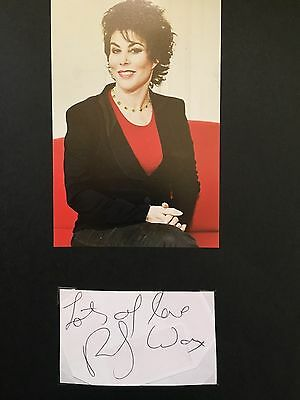 Ruby Wax hand signed autograph of comedian & actress