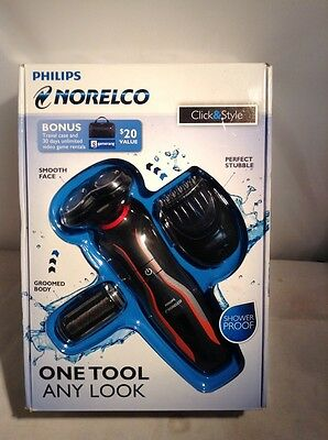 Philips Norelco Click Style YS524 Cordless Rechargeable Men's Electric Shaver