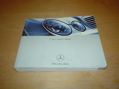 MERCEDES W211 E CLASS E200 E220 E240 E270 E320 E400 E500 Owners Handbook Manual