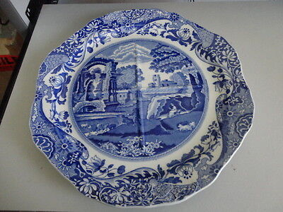 Vintage Copeland Spode's Italian Blue & White Sectional Serving Plate