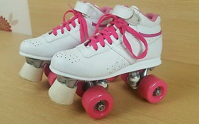 Quad Roller Skates Size 1 UK girls ladies white pink