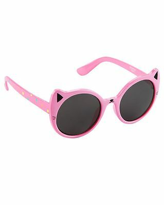 New OshKosh Baby 1 2 Year Old Sunglasses Size 0-24m  NWT Pink Cat Ears Wiskers