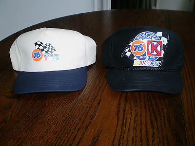VINTAGE! Two Union 76 Official Fuel of Nascar Hats/Caps! Never Worn! Adjustable!