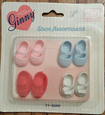 Vogue Ginny Doll Shoe Assortment,  New in Package, 4 pair