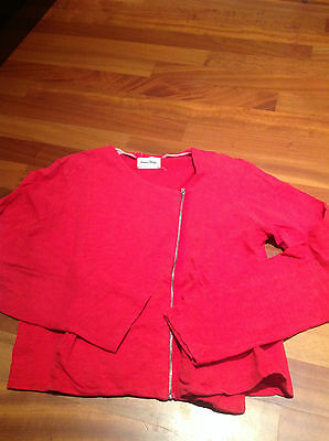 American Vintage Sweat Perfecto Rouge 100% Coton Taille M Tbe