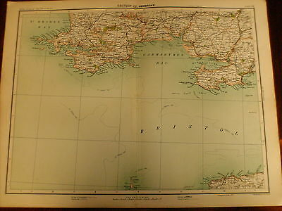 Pembroke,  Rare Antique Map circa 1891