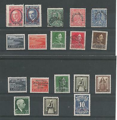 Albania Stamps From An Old Album M/mint & Used
