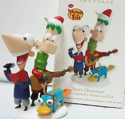 2012 HALLMARK Perry Christmas Disney Channel's Phineas and Ferb NEW in Box