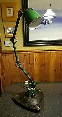 Vintage Industrial EDL Angle poise Articulated Machinist Factory Task Lamp PAT t