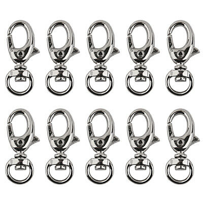 10x Small Silver Lobster Trigger Swivel Clasps for Keyring Hook DIY Crafts