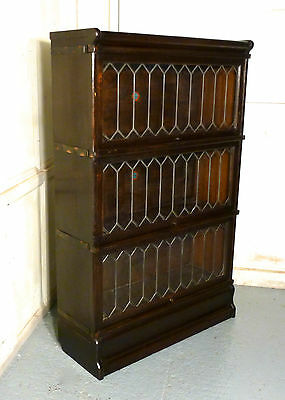 A 3 Section Oak Globe Wernicke, or Barristers Bookcase