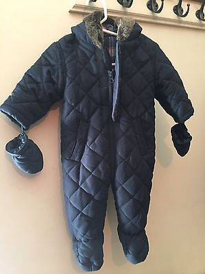 George 3-6 Month Navy Quilted Snowsuit Coat