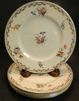 "Vintage Set of (5) Syracuse China Lady Louise 9.75"" Dinner Plates Excellent Cond"