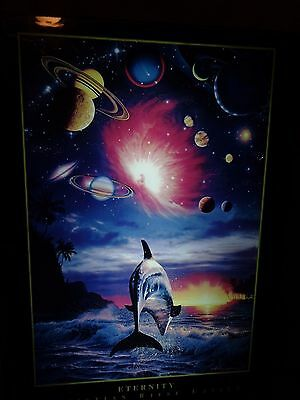 Christian Riese Lassen Dolphin & Space Eternity Illuminated Electric Light box